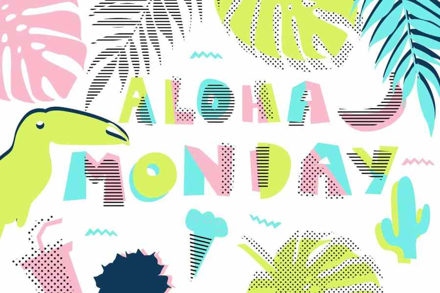 Hawaii vector set - Illustrations Like Saved Hawaii vector set - Illustrations - 1 Hawaii vector set - Illustrations - 2 Hawaii vector set - Illustrations - 3 Hawaii vector set - Illustrations - 4 Hawaii set with days of week in Memphis retro style