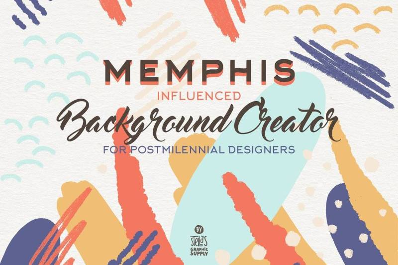 Memphis Background Creator - Graphics Like Save Memphis Background Creator - Graphics - 1 Memphis Background Creator - Graphics - 3 Memphis Background Creator - Graphics - 4 Memphis Background Creator - Graphics - 5 Memphis Background Creator - Graphics - 6 Memphis Background Creator - Graphics - 7 Memphis Background Creator - Graphics - 8 So happy to introduce you to the absolutely exceptional Memphis Influenced Background Creator which is the result of my interest to the newest trend in graphic design, the Memphis inspired graphics.
