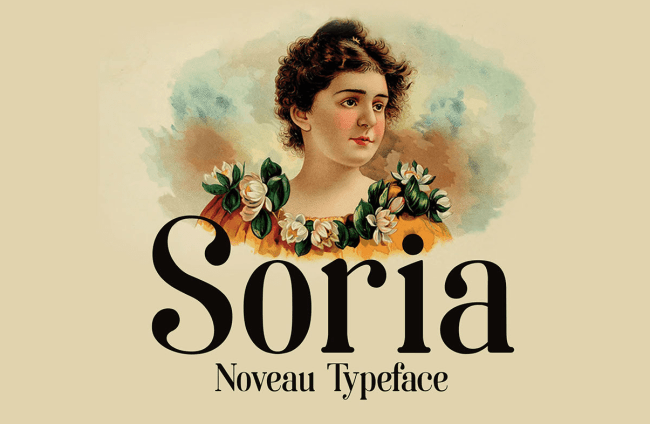 Soria – A Typeface Inspired by Art Nouveau