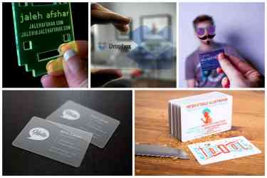 Cool Plastic Business Card Designs