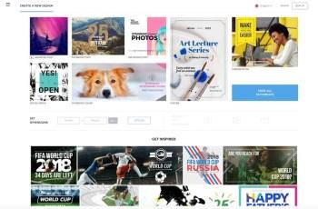 Crello Homepage Screenshot