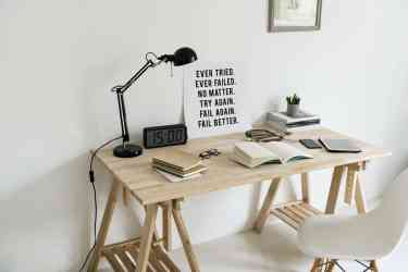 desk inside a modern home