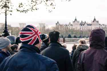 english people standing together