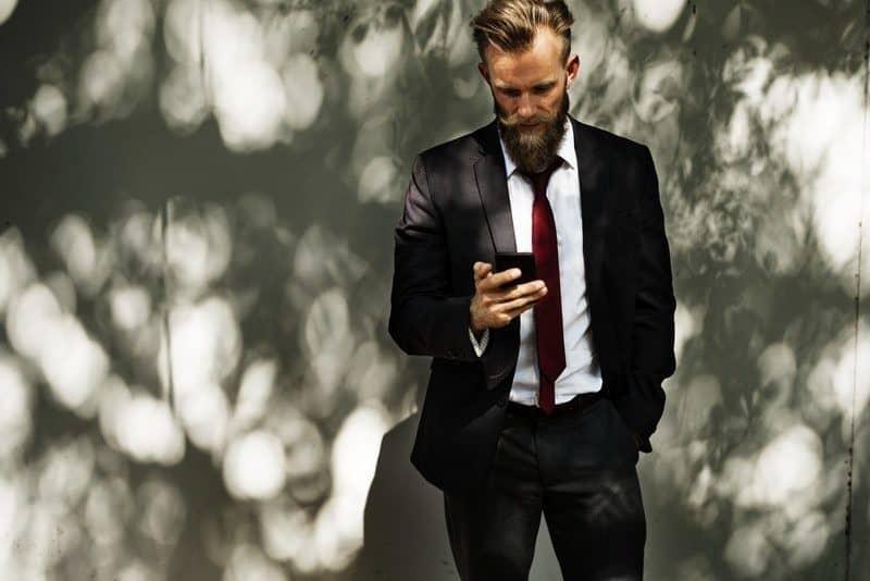 beard businessman corporate fashion