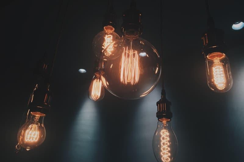 Vintage light bulbs close up