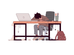 Man Sleeping on his desk