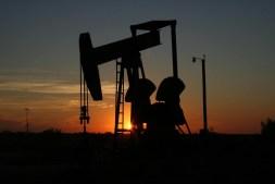 Oil Drill at Dusk