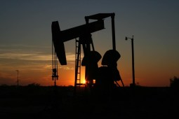 Oil Drill at Dusk