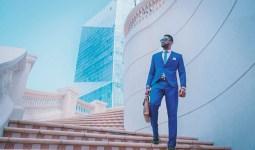 Successful Man in a Blue Suit
