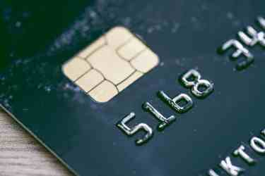 Bank Credit Card Close Up