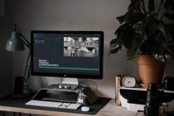 Filmorapro on an imac screen
