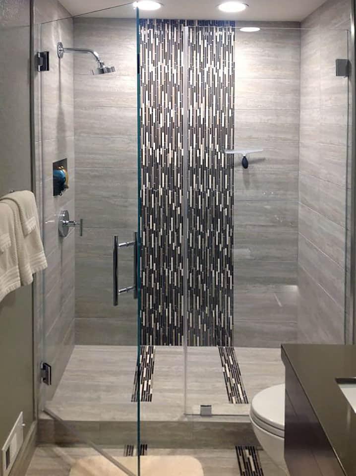 Inline Glass Shower Door
