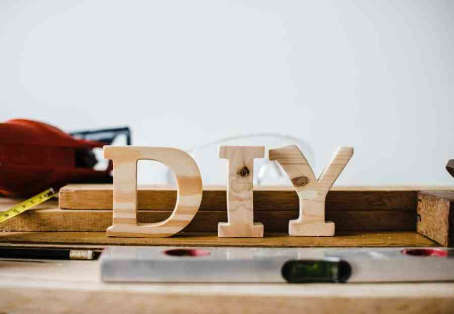 brown wooden diy table decor