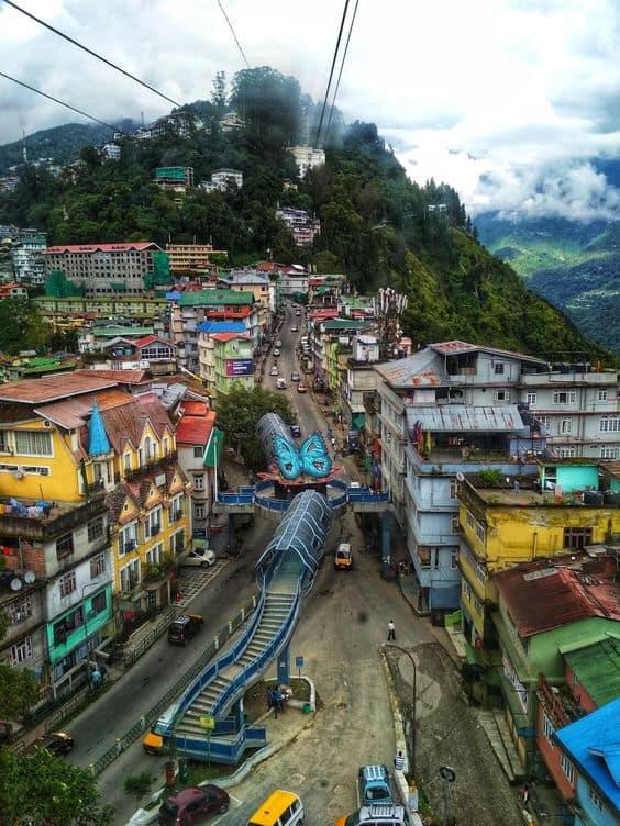 the capital of Sikkim, Gangtok