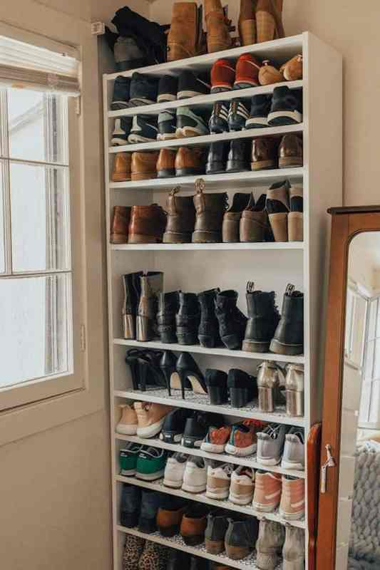 Store Shoes on the back of Your Door