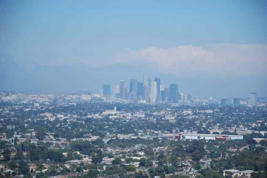 The views of Los Angeles from the Baldwin Hills