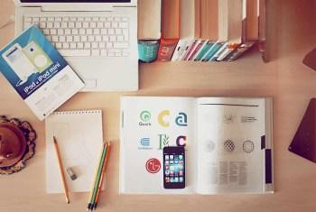 Workspace of a Logo Designer