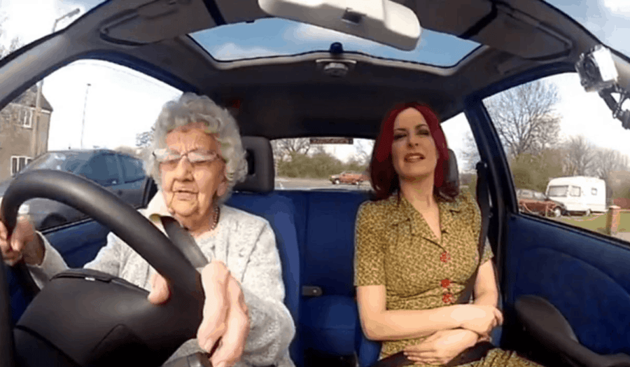 old women driving