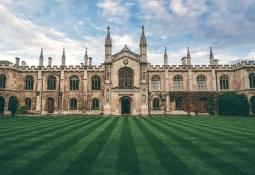 Castle lawn in Britain