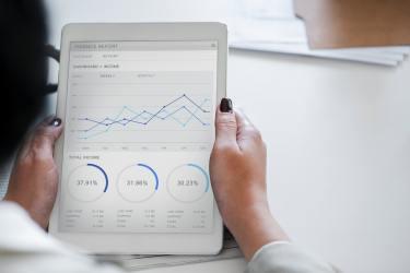 analysis-businesswoman-chart