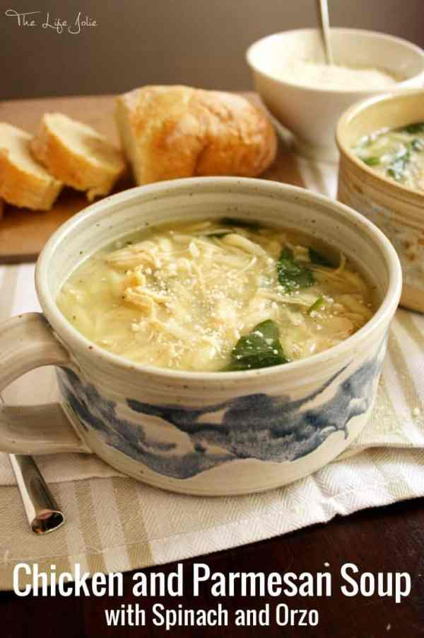 chicken and parmesan soup