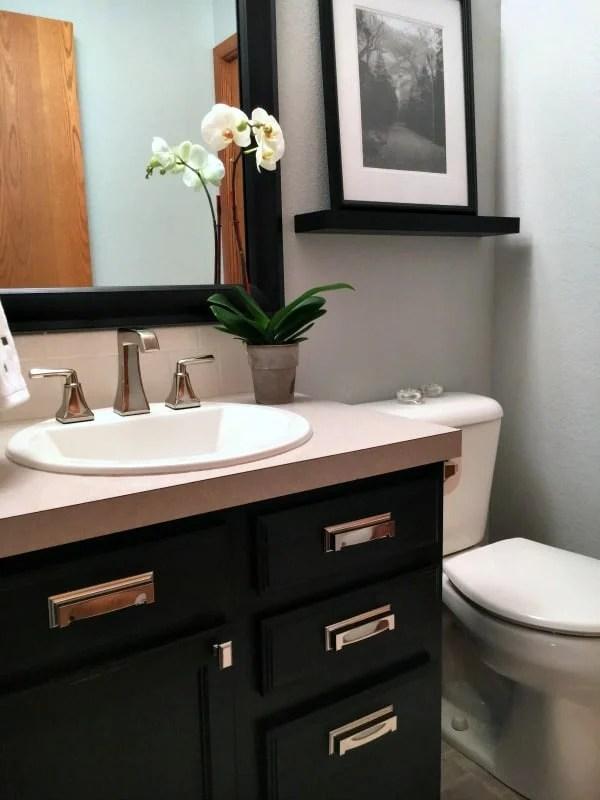 half bathroom remodel inspiration for