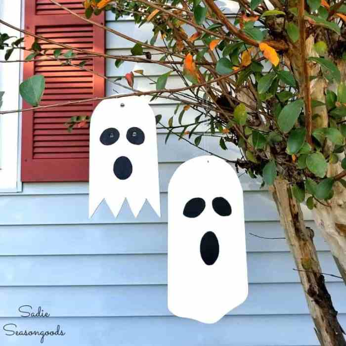 DIY Ghost Ornaments