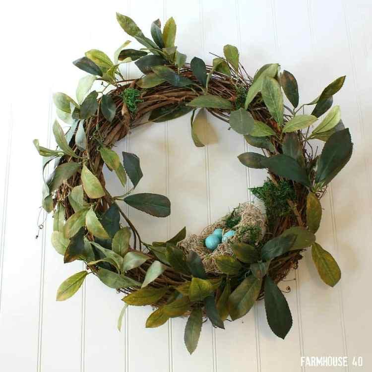 spring bird nest wreath
