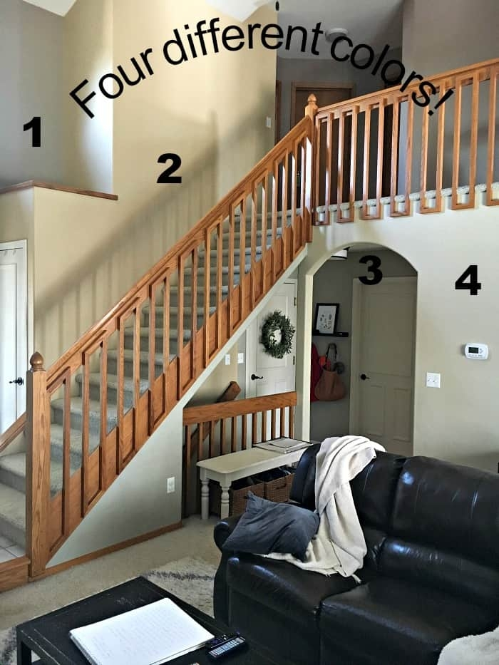 The Easiest Way To Paint Tall Walls Inspiration For Moms   Wall Painting Designs For Staircase   Simple   Decorative   Two Tone   Modern   Hall Nature