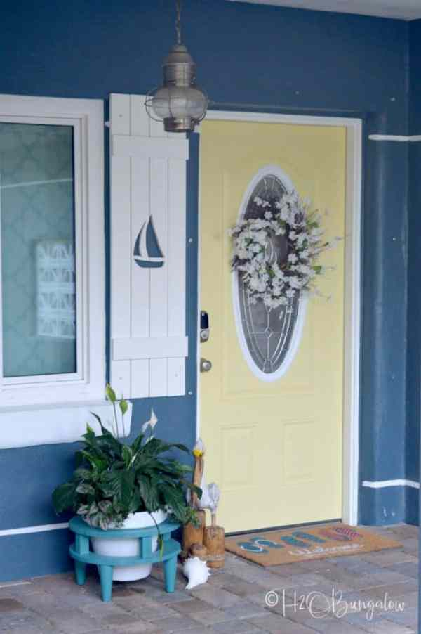 DIY Sailboat Cutout Shutter