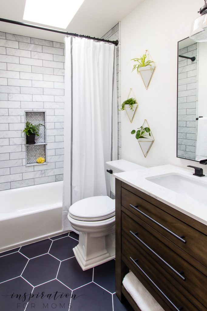 My Modern Small Bathroom Makeover Sources - Inspiration ... on Small Bathroom Remodel  id=58581