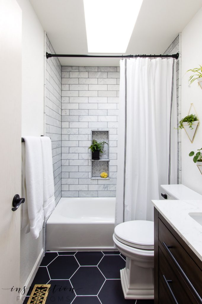 Bathroom Remodel with Modern Fixtures from Delta ... on Small Bathroom Remodel  id=38099