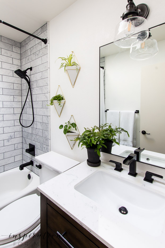 Bathroom Remodel with Modern Fixtures from Delta ... on Small Bathroom Remodel  id=48451