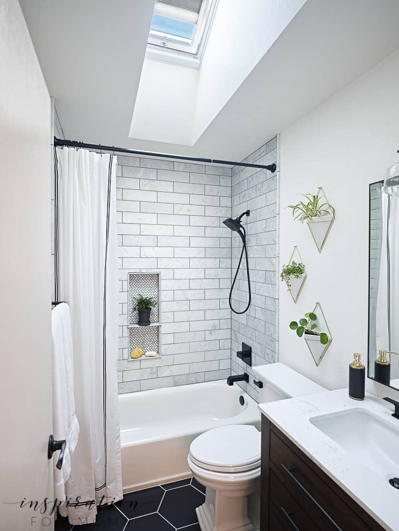 Small Bathroom Remodel with Velux Skylights - Inspiration ... on Small Bathroom Renovations  id=28504