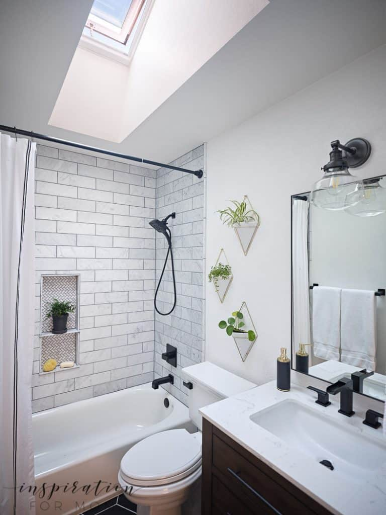 Small Bathroom Remodel with Velux Skylights - Inspiration ... on Small Bathroom Renovations  id=36191