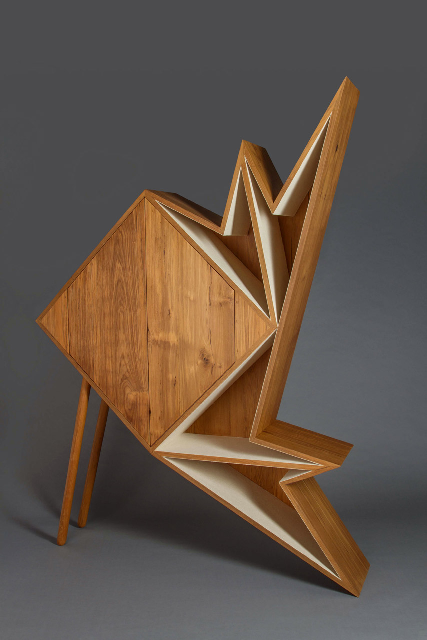 A Collection Of Geometric Furniture And Decorative Objects