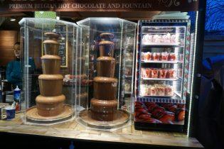 Winter Wonderland, Hyde Park London - Chocoladefontein kraampje