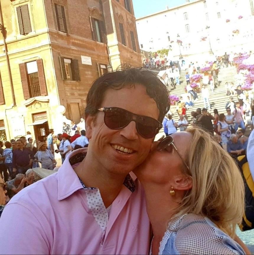 Sylvia en haar lief in Rome, Italië