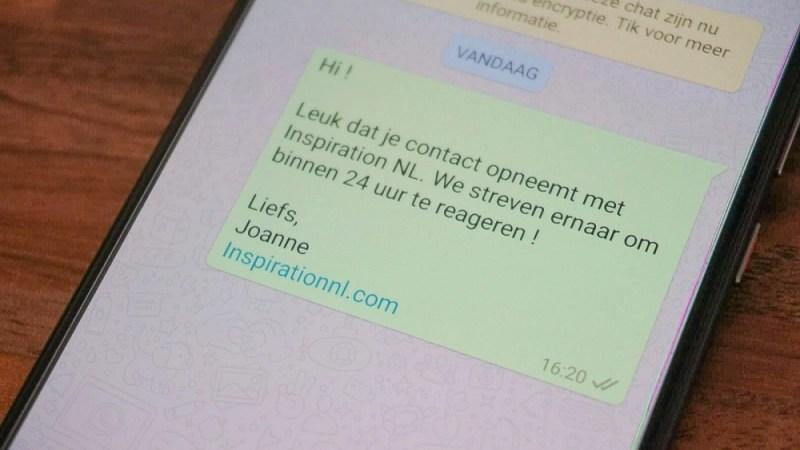 Whatsapp voor je bedrijf