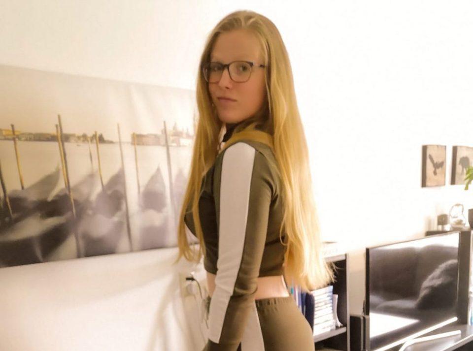 Khaki-White Stripe Loungewear Set