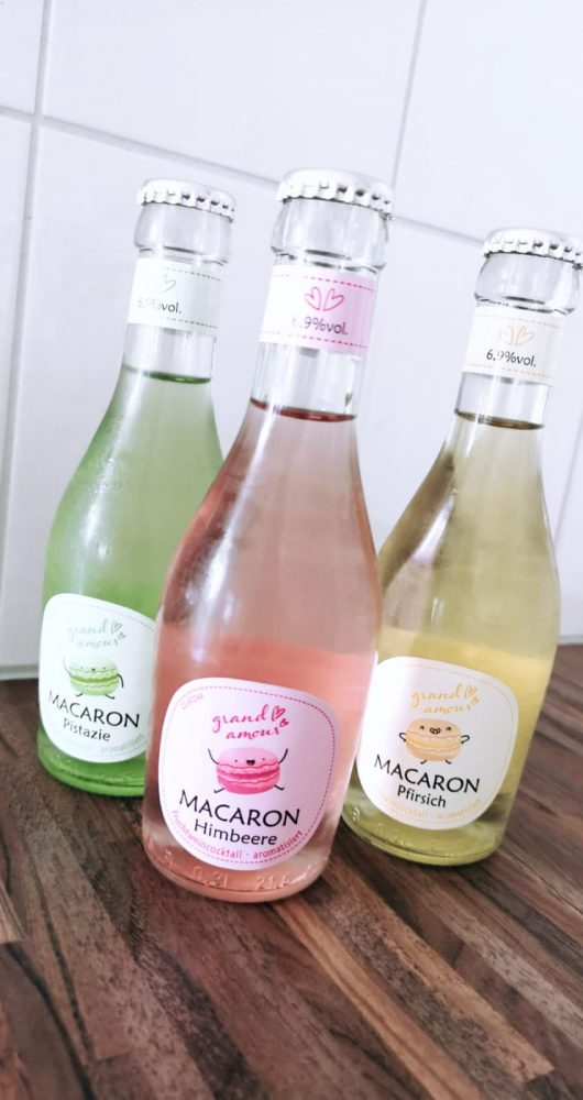Macaron Cocktails Perzik, Framboos en Pistache