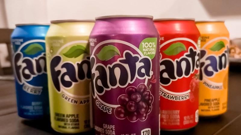 6 verschillende Fanta smaken