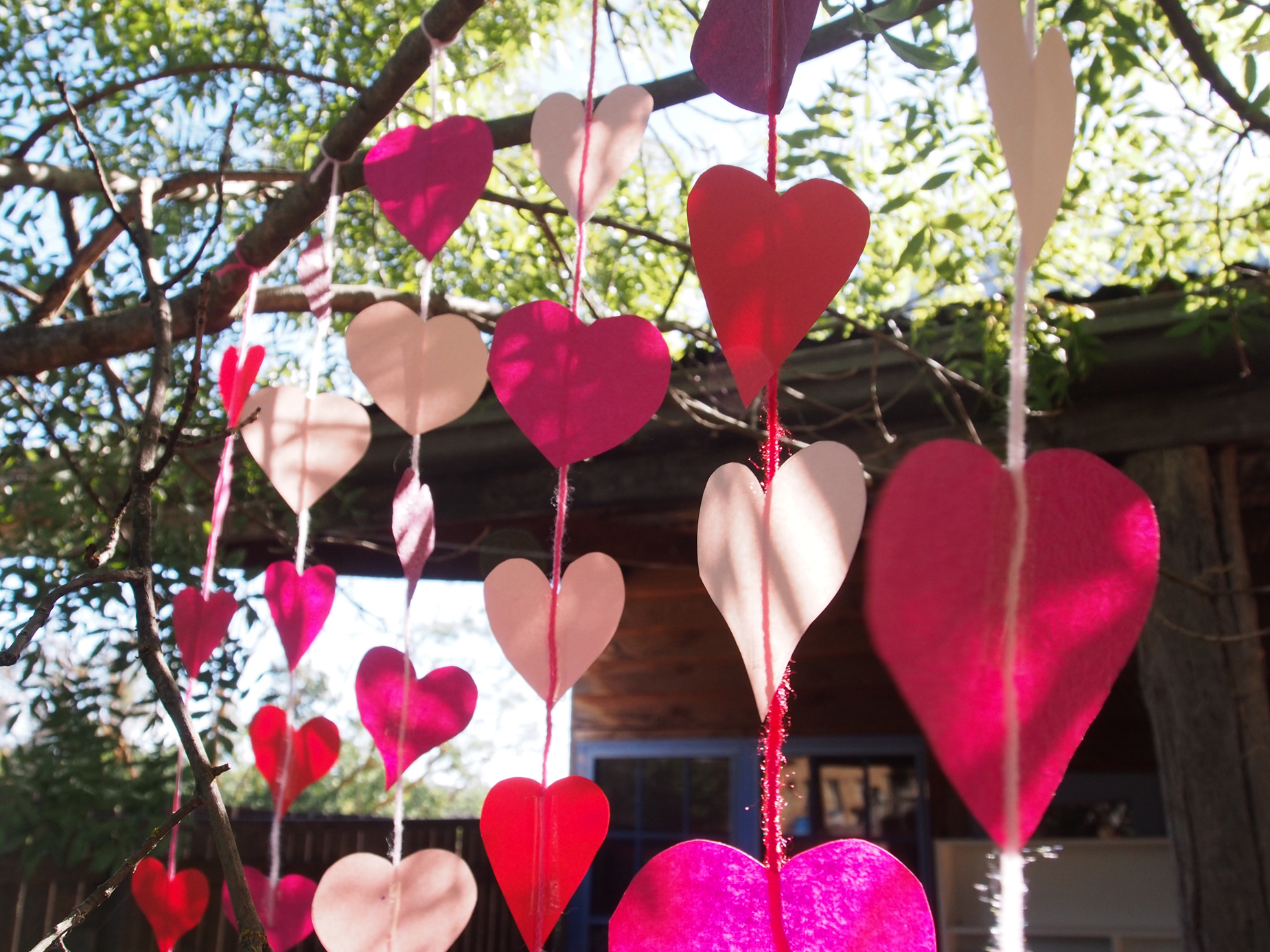 Hanging Hearts Inspiration Rose