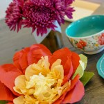 Diy Paper Flower Centerpieces For A Summer Solstice Party Inspirations And Celebrations