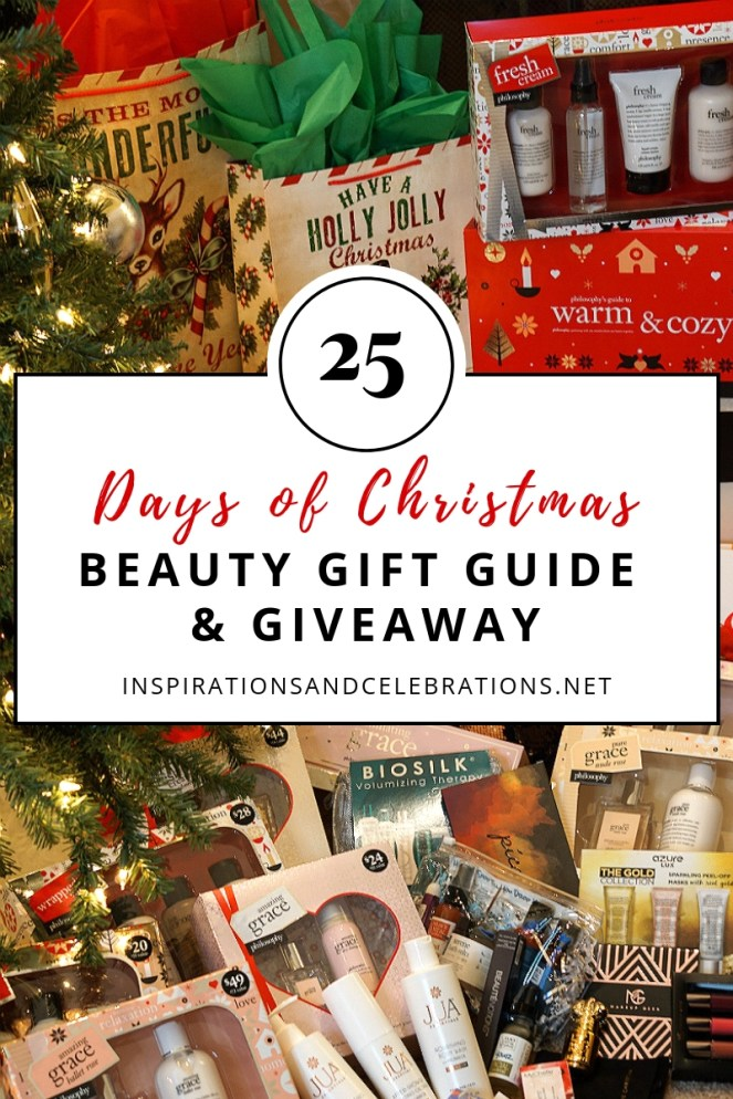 25 Days of Christmas Beauty Gift Guide and Giveaway