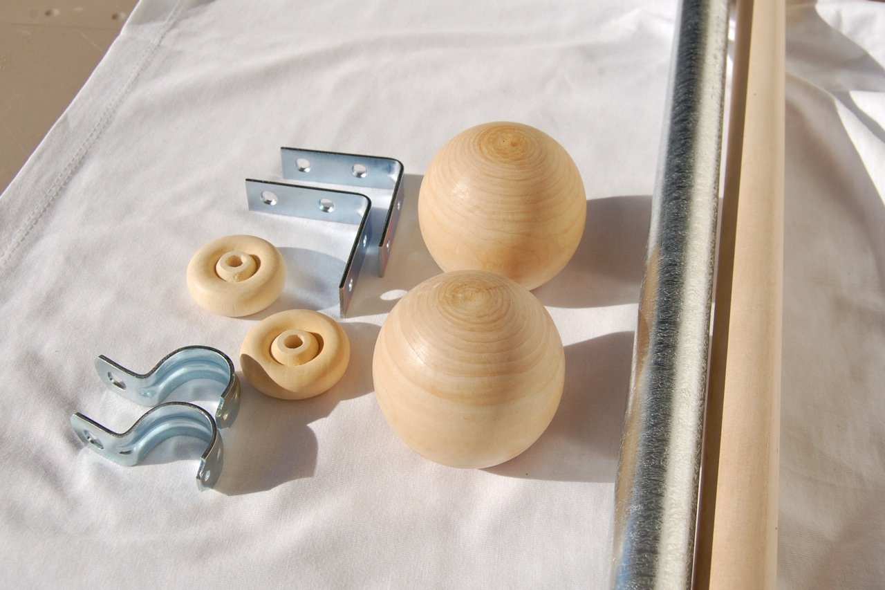 how to make your own curtain rods