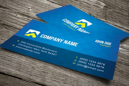 25 Free PSD Business Card Templates that You Should Download     Cool Blue Business Card Template