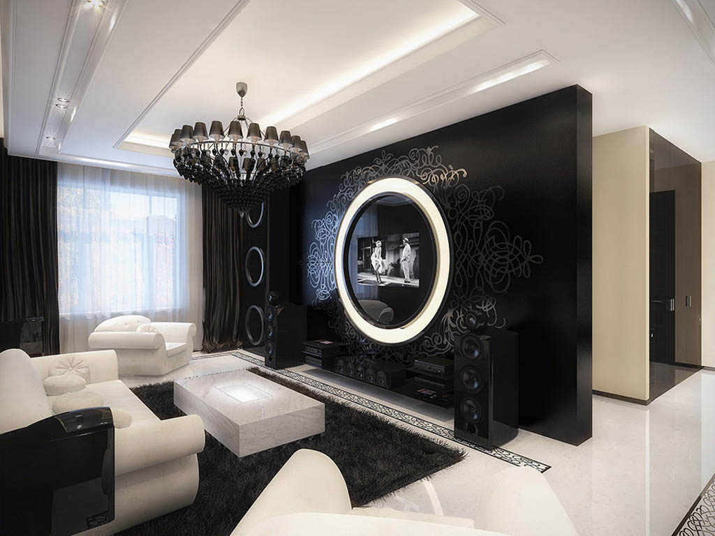 Black And White Living Room Decor At Unique 17 Inspiring Wonderful Part 56