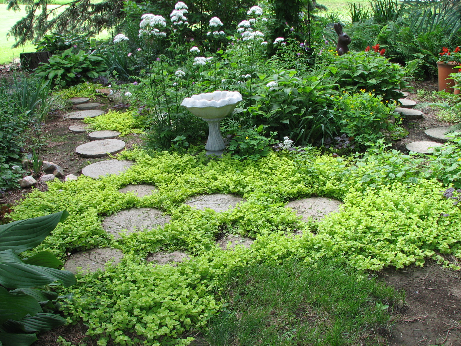 Garden Stepping Stone Design and Ideas - InspirationSeek.com on Stepping Stone Patio Ideas  id=57035