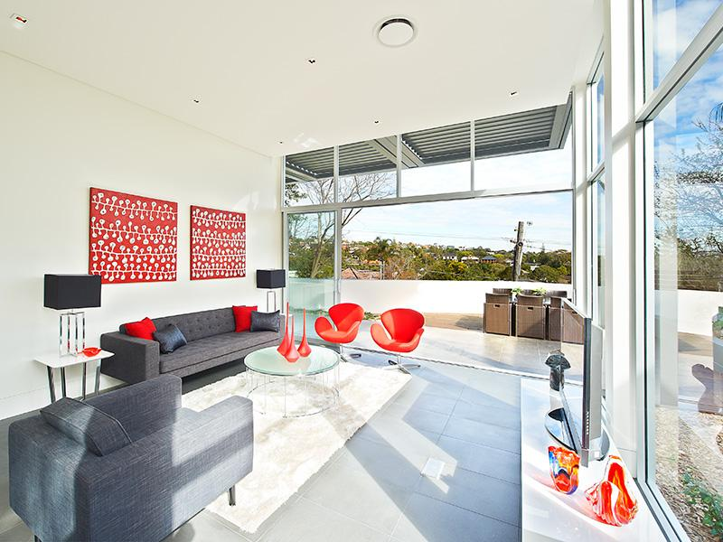 ... Living Room Grey Sofa. Red And White Interior Design For A More Vibrant  Home Part 49